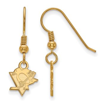 Gold-Plated Sterling Silver Pittsburgh Penguins NHL Earrings
