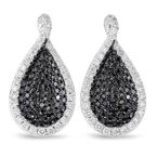 S. Kashi  & Sons White & black Diamond Earring