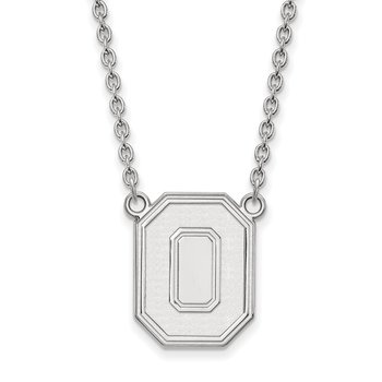 Sterling Silver Ohio State University NCAA Necklace