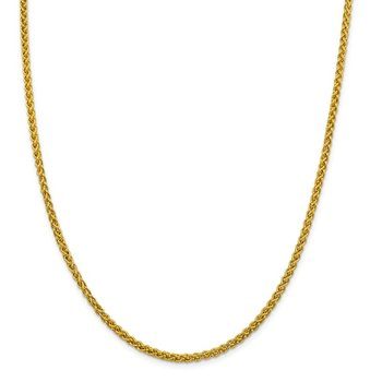 14k 3.45mm Semi-solid Wheat Chain