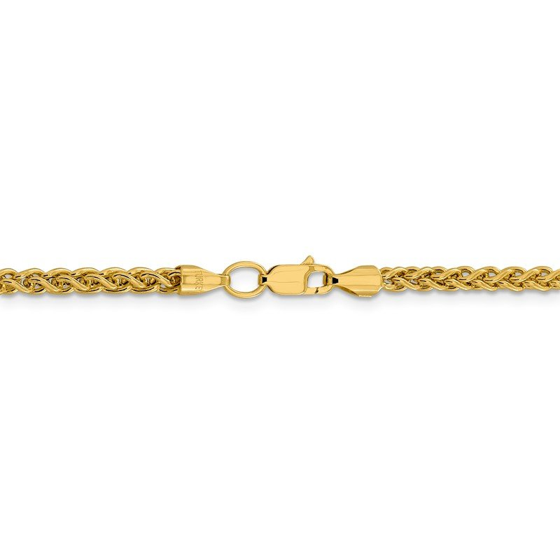 Quality Gold 14k 3.45mm Semi-solid Wheat Chain