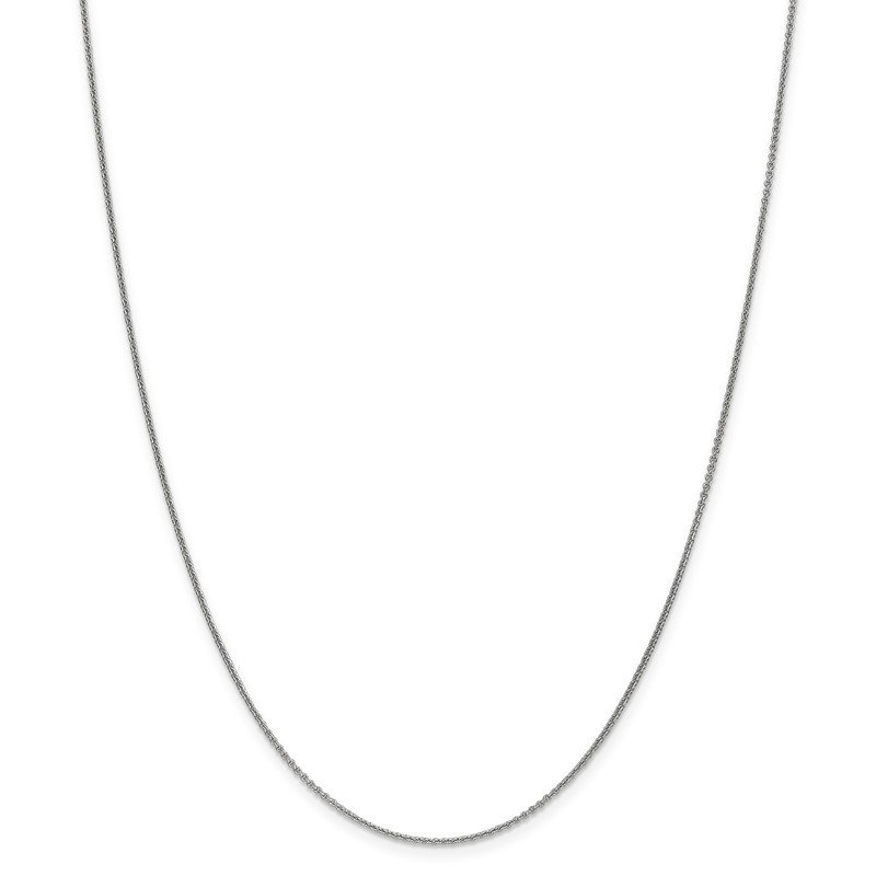 Leslie's Leslie's 14K White Gold 1.1 mm Round Cable Chain