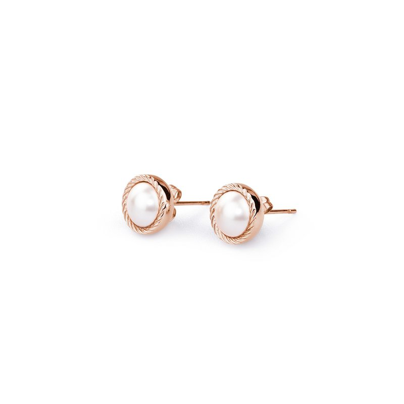 Brosway 316L stainless steel, rose gold pvd and creamrose Swarovski® Elements pearls.