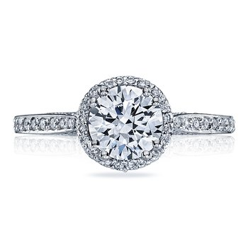 Dantela Pavé Round Engagement Ring