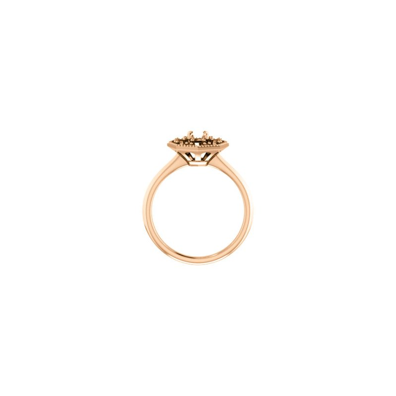 Stuller 18K Rose 4.4 mm Round Halo-Style Engagement Ring Mounting