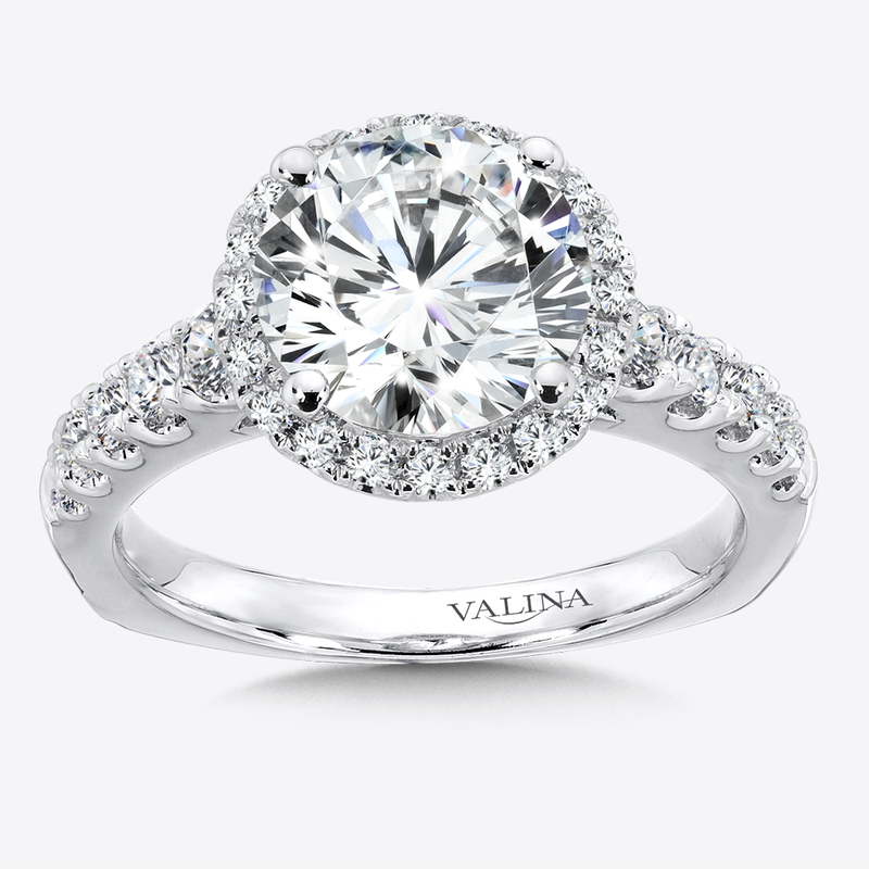 Valina Bridals Diamond Halo Engagement Ring in 14k White Gold (0.57 ct. tw.)