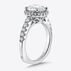 Valina Diamond Halo Engagement Ring in 14k White Gold (0.57 ct. tw.)