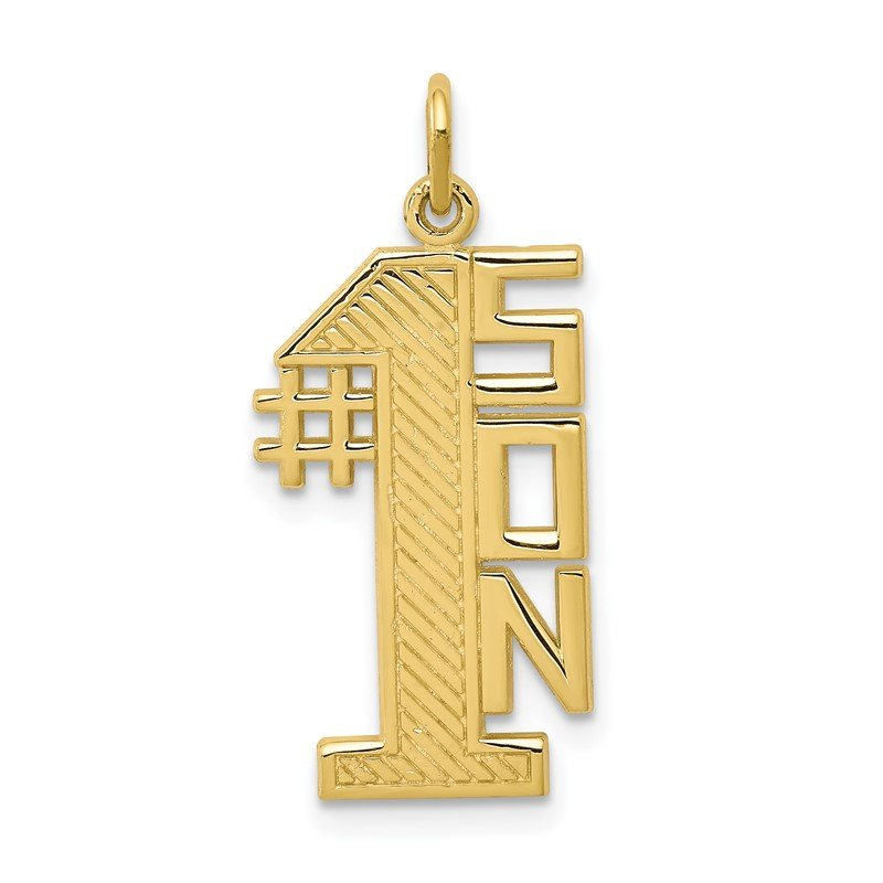 Quality Gold 10K Lined Design #1 SON Charm