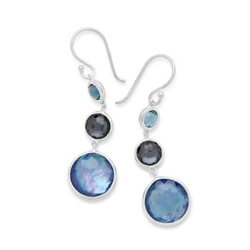 Ippolita sterling Lollipop Lollitini 3-stone drop earrings in Eclipse. Available at our Halifax store.