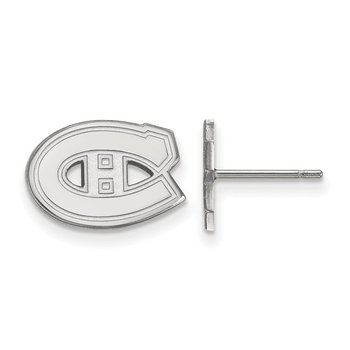 Sterling Silver Montreal Canadiens NHL Earrings
