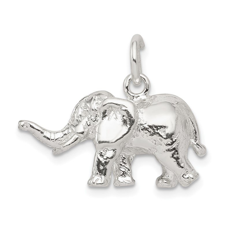 Quality Gold Sterling Silver Elephant Charm