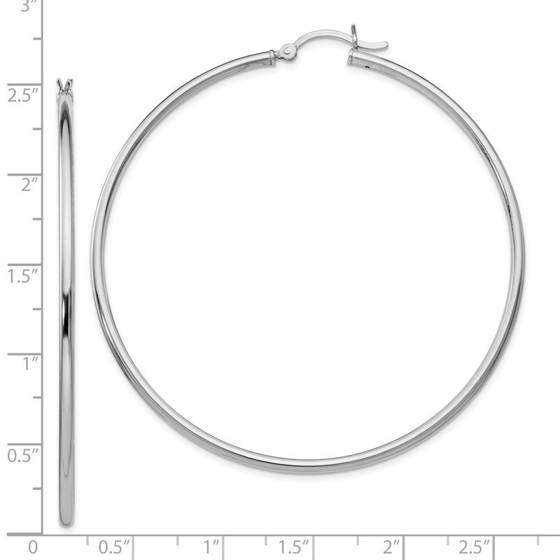 Leslie's Leslie's Sterling Silver Polished Hinged Hoop Earrings