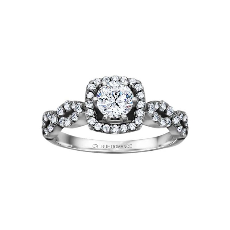Princess Cut Halo Diamond Infinity Engagement Ring
