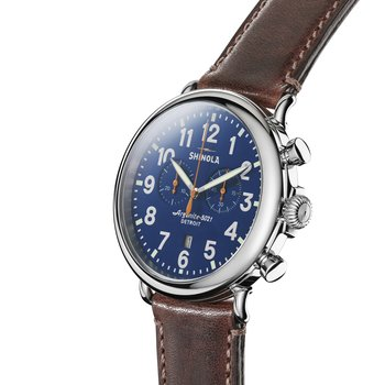 Runwell Chrono 47mm, Brown Leather Strap
