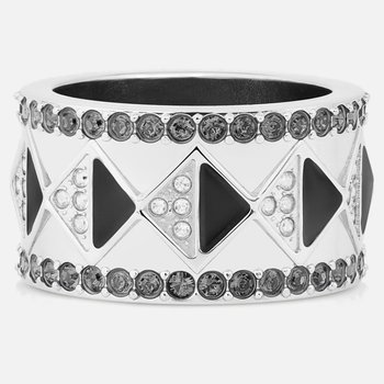 Karl Lagerfeld Geometric Ring, Gray, Palladium plated
