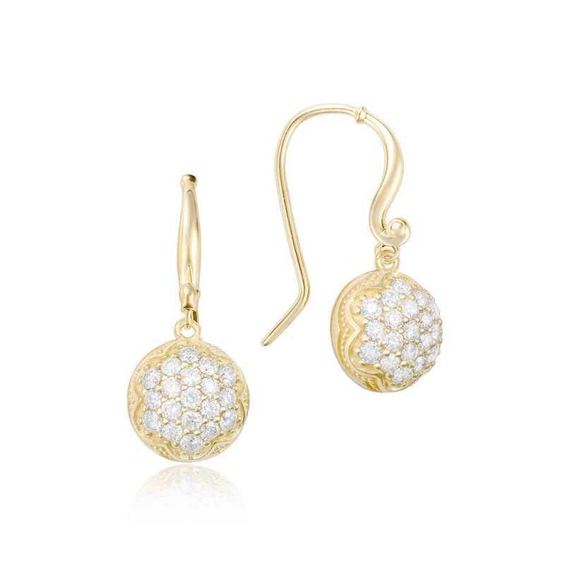 Tacori Fashion Dew Drop Earrings featuring Pavé Diamonds