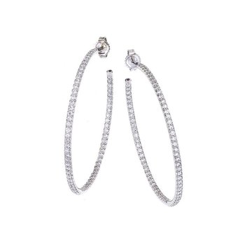 Xlarge Inside Outside Diamond Hoop Earrings
