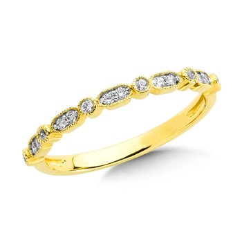 Channel set Diamond Hoops in 14k Yellow Gold (1/4 ct. tw.) GH/SI1-SI2