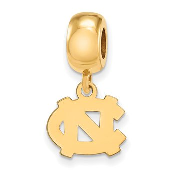 Gold-Plated Sterling Silver University of North Carolina NCAA Bead