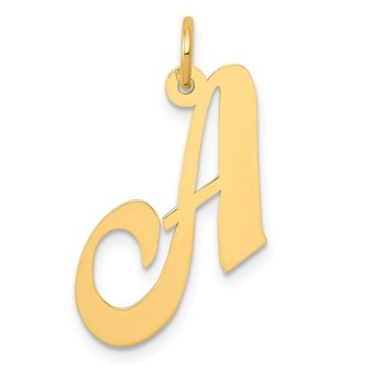 14K Medium Fancy Script Letter A Initial Charm