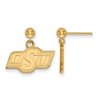 Gold Oklahoma State University NCAA Earrings