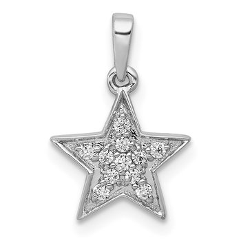 14k White Gold 1/10ct. Diamond Star Pendant