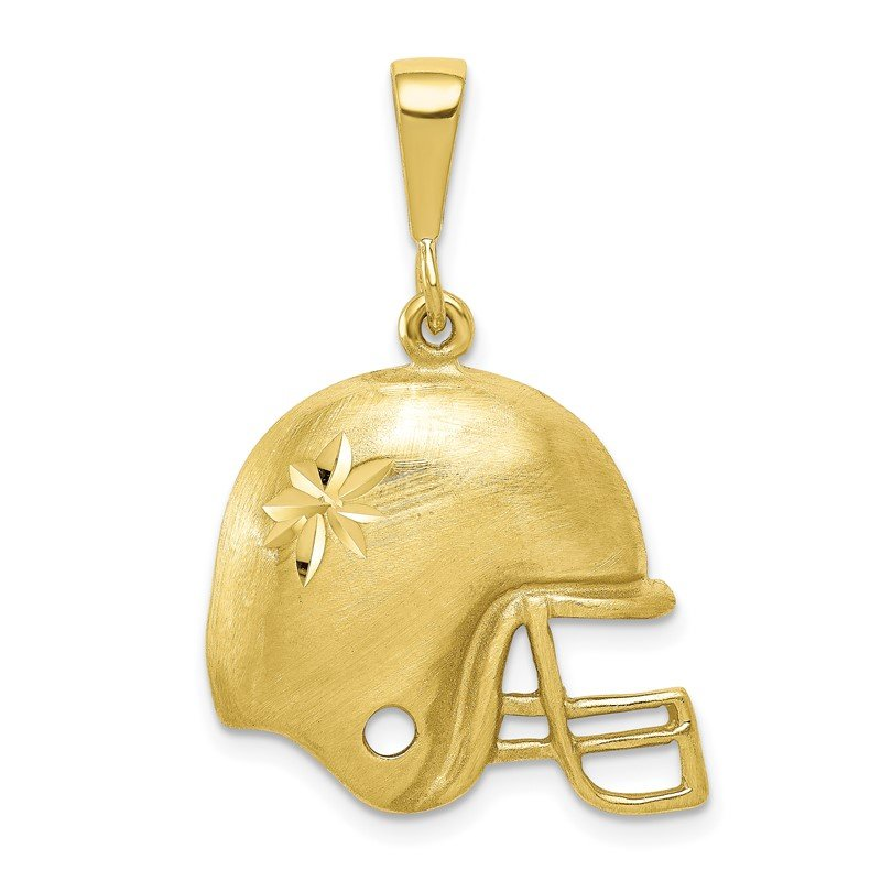 Quality Gold 10K Football Helmet Charm