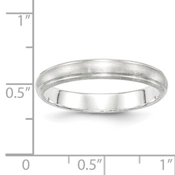 Sterling Silver 4mm Satin Finish Band