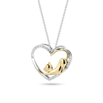 Cat Love Diamond Pendant