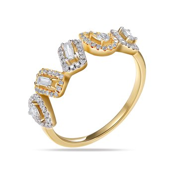 Beautiful multi shape ring with 84 round Diamonds 0.33CT & 3 Bag 0.13CT