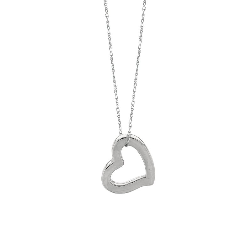 Royal Chain 14K Gold Open Heart Necklace