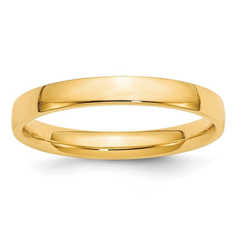 Quality Gold 14KY 3mm LTW Comfort Fit Band Size 10