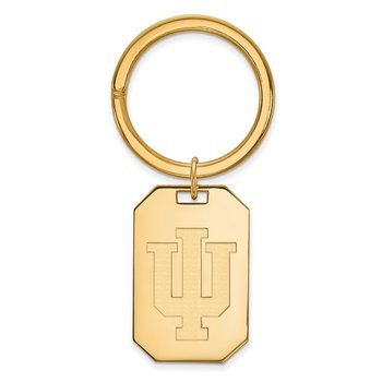 Gold-Plated Sterling Silver Indiana University NCAA Key Chain
