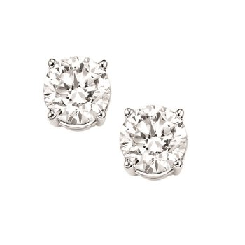 Diamond Stud Earrings in 18K White Gold (5/8 ct. tw.) I1 - G/H
