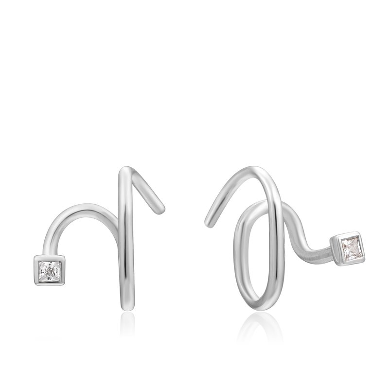 Ania Haie TWIST SQUARE SPARKLE EARRINGS
