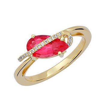 Padparadscha Ring-CR12422YPD