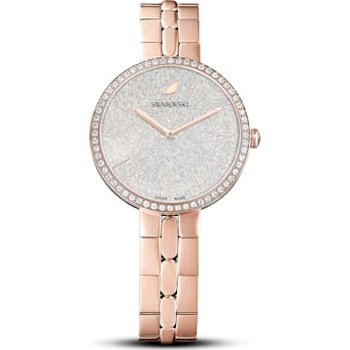 Cosmopolitan Watch, Metal bracelet, White, Rose-gold tone PVD
