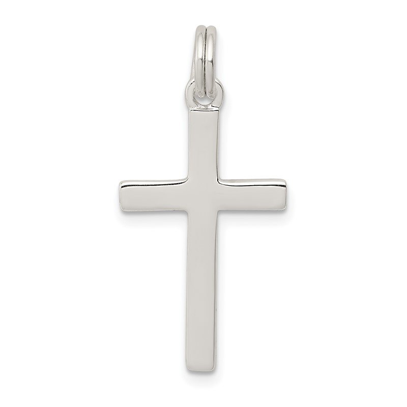 J.F. Kruse Signature Collection Sterling Silver Polished Cross Pendant