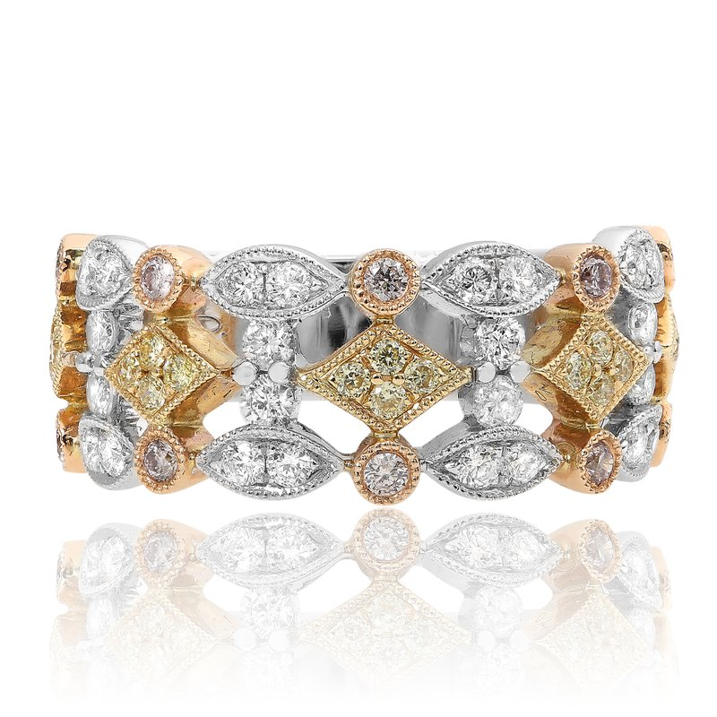 Roman & Jules Two Tone Geometric Diamond Ring