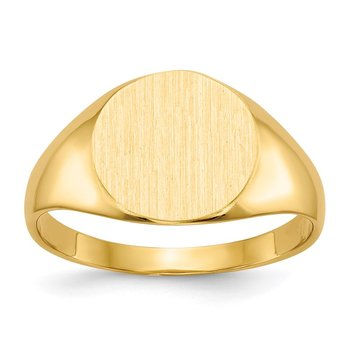 14k 9.5x10.0mm Closed Back Signet Ring