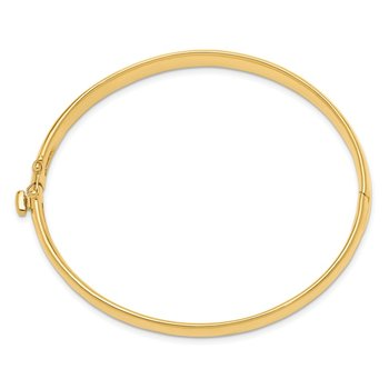 14k 6.4mm Polished Solid Hinged Bangle