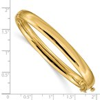 Quality Gold 14k 6.4mm Polished Solid Hinged Bangle