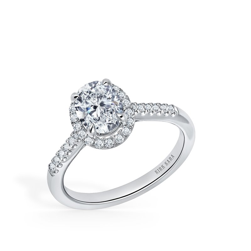 Oval Modern Diamond Engagement Ring