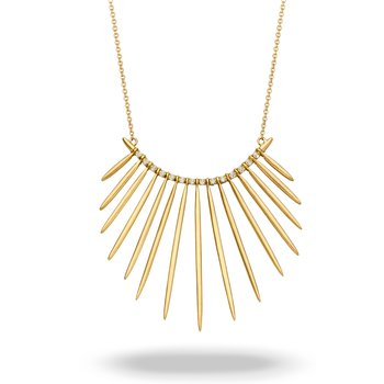 Gold Dagger Necklace 18KY