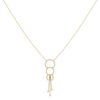 Chandelier Trio Lariat Necklace in 14 KT Yellow Gold Vermeil on Sterling Silver
