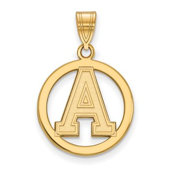 Gold-Plated Sterling Silver U.S. Military Academy NCAA Pendant
