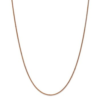 14k Rose Gold 1.4mm D/C Spiga Chain