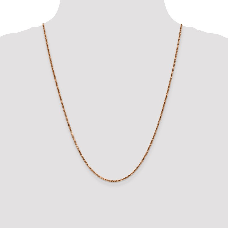 Quality Gold 14k Rose Gold 1.4mm D/C Spiga Chain