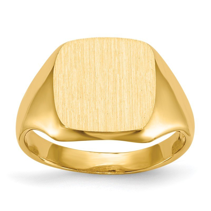 Quality Gold 14k 10.0x10.0mm Open Back Signet Ring