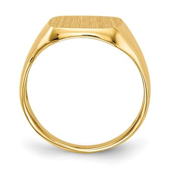 14k 10.0x10.0mm Open Back Signet Ring